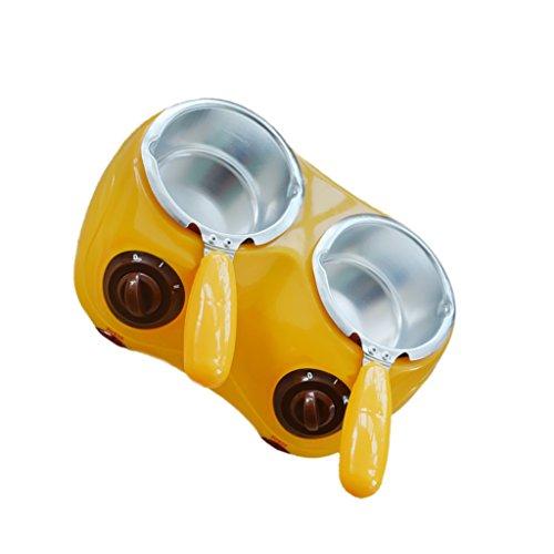 joyMerit Fondre Au Chocolat Double Chocolat Au Fromage Bonbons Doux Chauffe-Fondue DIY - Jaune, Double Pots
