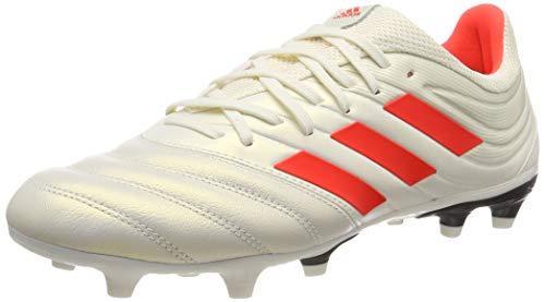 adidas Herren Copa 19.3 Fg Fußballschuhe, Weiß (Off White/Solar Red/Core Black) , 40 EU