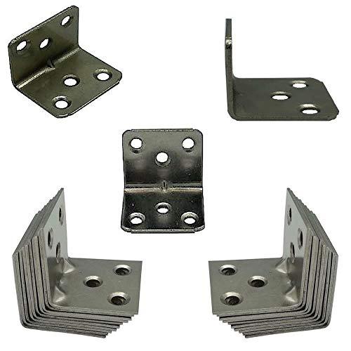 Euro Tische 30x Winkelverbinder breit Balkenwinkel ideal für Innen- & Außenbereich Stahl verzinkt - Metallwinkel in 30 x 30 x 36 mm