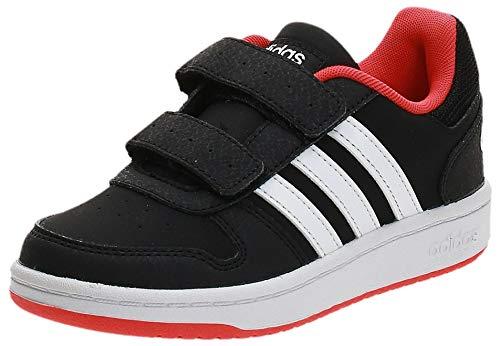 Adidas Hoops 2.0 CMF C, Zapatos de Baloncesto, Multicolor (Core Black/FTWR White/Hi/Res Red S18 B75960), 33 EU