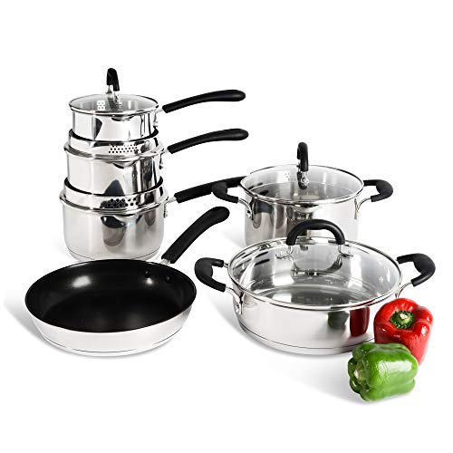 ProCook Gourmet Stainless Steel Set - 4 Piece - Induction Pan Sets