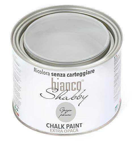 CHALK PAINT Grigio Polvere Pittura Shabby Chic Vintage per Mobili e Pareti EXTRA OPACO (500 ml)