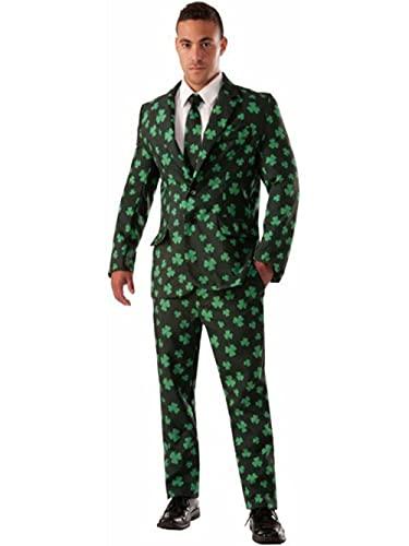 Forum Novelties mens Shamrock Suit and Tie Costume, Green, Medium US