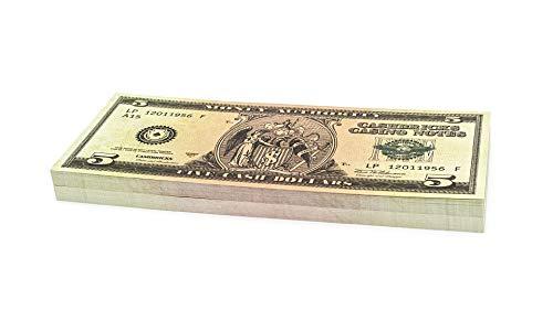 Cashbricks 100 x $5 Dollar Spielgeld Scheine