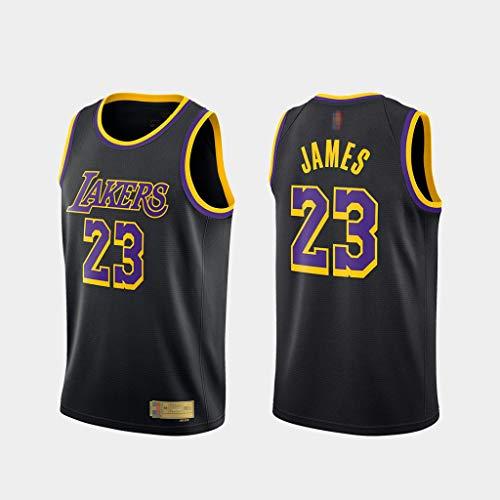 HS-XP 2021 Jerseys De Baloncesto/NBA Los Angeles Lakers # 23 Lebron James Baloncesto Entrenamiento Ropa Deportiva Y De Ocio Gimnasio Secado Rápido Y Chaleco Sin Mangas,Negro,XXL(185~190cm)