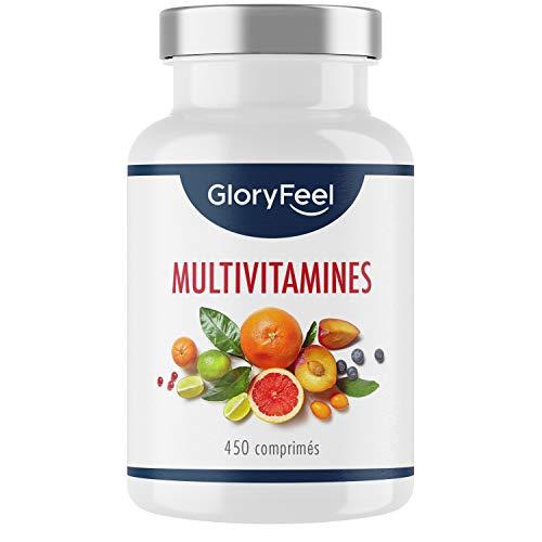 Multivitamines et Minéraux - 450 Comprimés (15 Mois) - Avec Zinc, Sélénium, Calcium, Biotine, Vitamines A, B1, B2, B3, B6, D3 et Vitamin C pour le Système Immunitaire