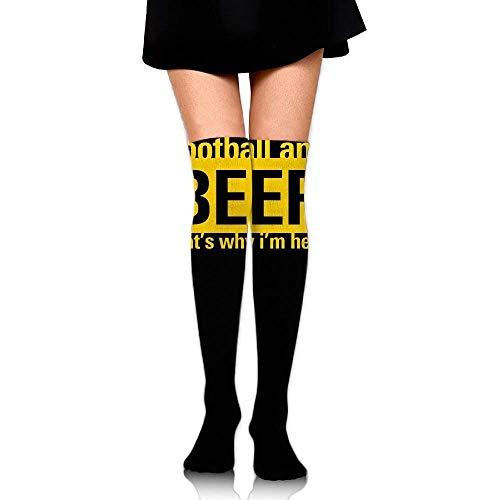 zhulaowufenbaoyouxi Frauen-Mannschafts-Socken-Schenkel hoch über Knie-amerikanischem Fußball-Bier-Kleid Legging beiläufiger Kompressions-Strumpf-Trend 1684