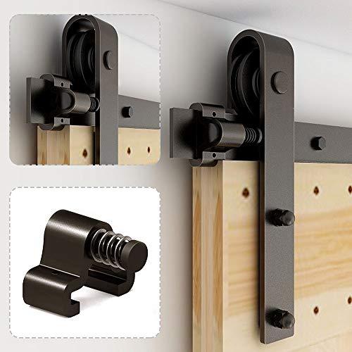 228cm/7.5FT Schiebetürbeschlag Set Schiebetürsystem Zubehörteil für Schiebetüren Innentüren, Schwarz/Sliding Barn Door Hardware Kit