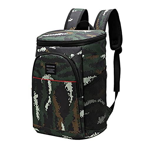 Hapeisy Mochila de picnic de hombro al aire libre, mochila refrigerada aislada, portátil, todo en uno, a prueba de fugas, para camping, senderismo, viajes