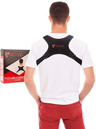 Corrector de Postura de Hombres Hecho por Professional Posture®| Enderezar la Espalda | #1 Amazon Espalda Soporte | Alivio Instantáneo del Dolor |Invisible Bajo Camisa | Diseñado para Hombres