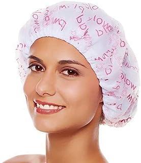 selinta 3 Pieces Waterproof Reusable Bathroom Shower Caps for Women (Multicolour)