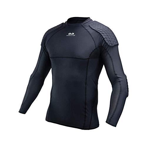 Mc David Goalkeeper Shirt Dive McDavid Hex-Camiseta de Portero Futbol, niño, Medium, Negro, Unisex-Youth