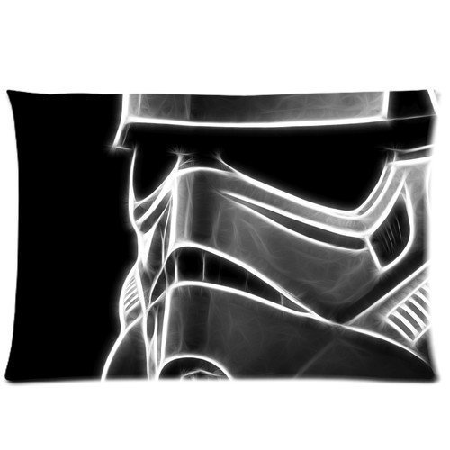 Aangepaste Star Wars Stormtrooper Masker Kussensloop Zachte Gerippelde Kussen Cover Kussensloop Covers Fasfion Ontwerp Twee Zijden Gedrukt 20x26 Kussens