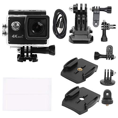 Akozon Kit de cámara de acción Kit de cámara de acción Air SJ4000 Pantalla LCD Multifuncional Impermeable DV Cámara Deportiva WiFi de Gran Angular de 170 Grados
