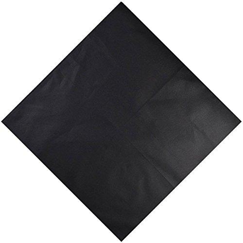 Cloud9basic - Bandana mixte - Couleur unie - 100 % coton - Taille : 55 x 55 cm - Noir - taille unique