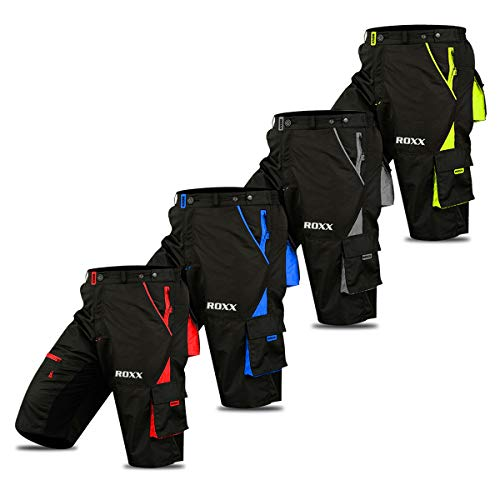 Cycling MTB Shorts, Coolmax Padded, detachable Inner Lining, Free Style Adult Size -Black/Fluorescent (XX-LARGE)