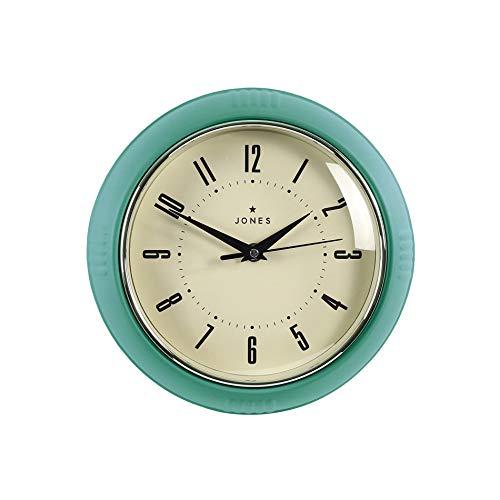 JONES CLOCKS® Ketchup-Wanduhr, Retro-Design, perfekt für die Küche, Heimbüro, Schlafzimmer 25cm
