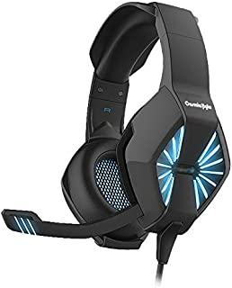 Cosmic Byte Spider Gaming Headphone with Microphone & LED for PC/PS4/Xbox/Mobiles/Tablets (Blue)