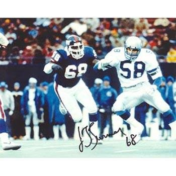 Chris Calloway NFL New York Giants Hand Signed 16x20 Photograph Blue Jersey