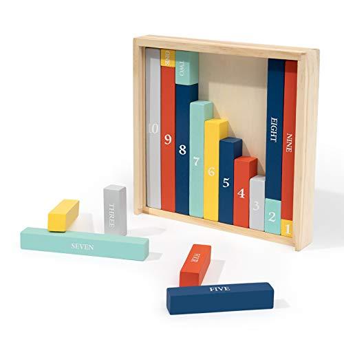 ROBUD Cuisenaire Rods Individual Kit, Montessori...