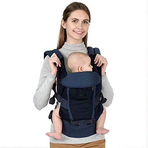SCJ Mochila portabebés Ajustable Kangaroos con Asiento Delantero para la Cadera y Mochila portabebés para recién Nacidos y niños pequeños de 3 a 36 Meses