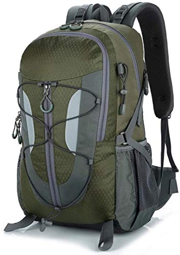 tgbnh Backpack,Hiking Backpack Hiking Daypack Backpack Unisex Camping Mountaineering Walking Outdoor Backpack Waterproof 35L (Color : Army Green 35L)