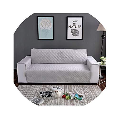 hotmoment-uk - Copridivano trapuntato in velluto, per poltrona, divano reclinabile, per cani, animali domestici, gatti, protezione per mobili da 1/2/3 posti, colore: grigio