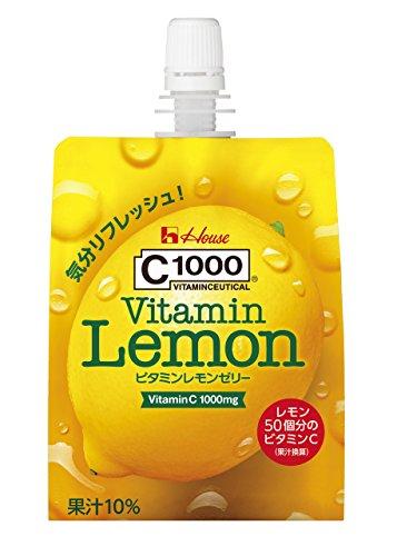 C1000 ビタミンレモンゼリー 180g×6個 ハウスウェルネスフーズ