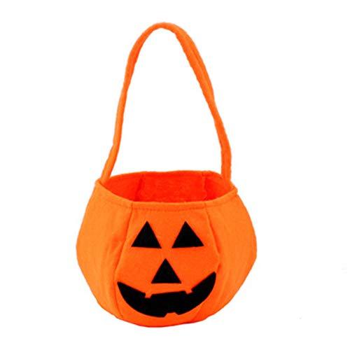 SDGSS 5Pcs Borsa di Zucca di Halloween Borsa di Caramella Non Tessuta Portatile Cestino di Halloween Prop Decorazione