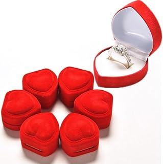 AuCatStore(TM) 2X Heart Shape Ring Red Love&Heart Storage Box Jewelry Box Display Box BH PL