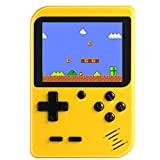 KUNWAYF Handheld Game Console, Retro Video Game Player with 400 Classical FC Games Mini 3-Inch Color Screen Support Connecting TV for Kids Boy Girl Adult Thanksgiving Christmas