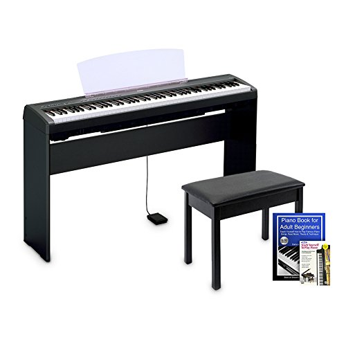 Yamaha P45 Digital Piano Education Bundle, Black with Yamaha Accessories