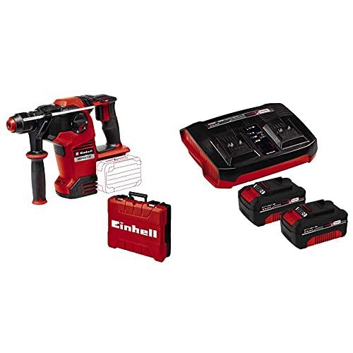 Einhell Martillo perforador con batería HEROCCO 36/28 Power X-Change + Einhell Original Starter Kit 2x 4 Ah batería y Twincharger Power X-Change