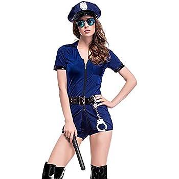 thematys Sexy Disfraz de Oficial de policía de 5 Piezas Conjunto ...