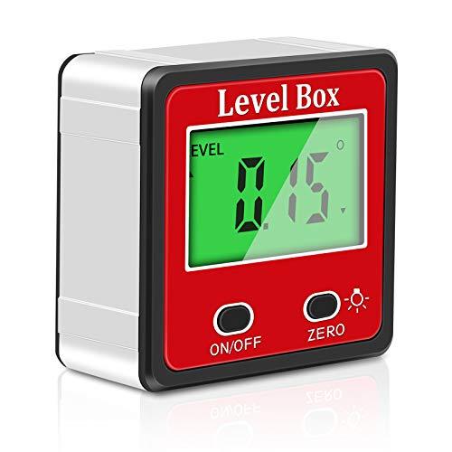 Wallfire Inclinómetro Digital de 2 Teclas Nivel Caja transportador de ángulos...