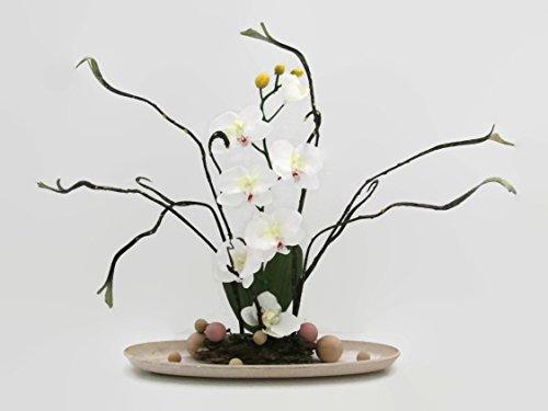 Orchideegesteck künstliche Blumen Tischgesteck Blumengesteck Seidenblumen Blumendekoration Muttertagsgeschenk
