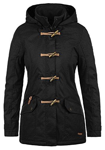 Desires Brooke Duffle-Coat Abrigo Chaqueta De Invierno para Mujer con Cuello Alto, tamaño:S, Color:Black (9000)