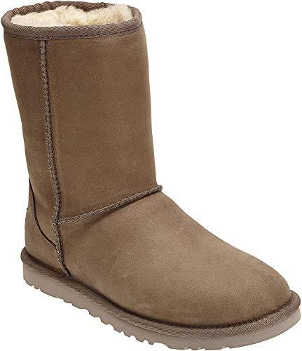 UGG Damen W Classic Short Leather Schlupfstiefel, Grau (FEA), 38 EU