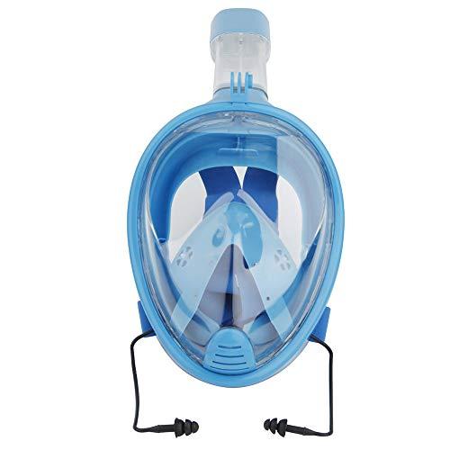 HWHSZ Regenbogen Film Schnorcheln Silikon Tauchmaske Voll Trocken Atmende Erwachsenenbrille Mit Kamera-Halterung Anti-Fog-Tauchmaske Panoramic Scuba Mask,B-L