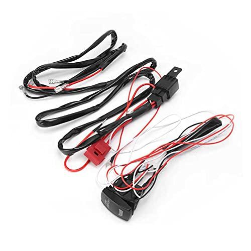 Qinndhto Puerto de Coche 4 0A 12V LED Spotlights Cableado Arnés 1 a 2 IP67 Ajuste Impermeable para Motocicletas de automóviles ATV UTV Accesorio Adaptadores