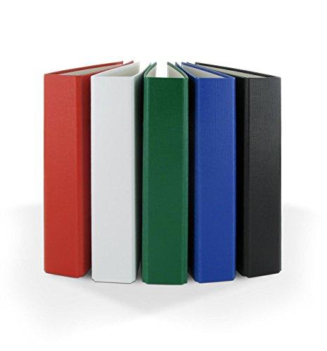 5x Ringbuch / DIN A5 / 4-Ring Ordner / je 1x blau, grün, schwarz, weiß und rot