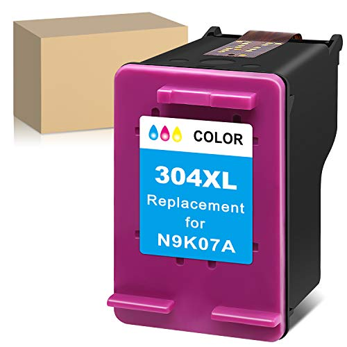 ATOPolyjet Remanufactured for HP 304 XL 304XL Cartucho de Tinta 1 Pack para Envy 5020 5030 5032 5050 5055 Deskjet 2630 2620 3720 3730 3733 2622 2634 2652 AMP 100 130 120 125 (1 Tri-Color)