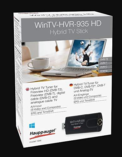 Hauppauge WinTV-HVR-935HD 01588 - USB Hybrid TV-Tuner - digitales Fernsehen DVB-T2 HD, DVB-C HD, DVB-T, Analog-TV für Laptop oder PC