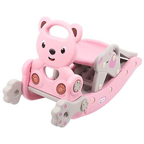 Pkfinrd Rocking Diaporama pak voor kinderen, twee in een leeftijd babycadeau, grote dikte 1 – 6 jaar, rocking chair houten paard lostgaming
