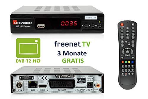 Univision UNT160 Freenet HD DVB-T2 terrestrische ontvanger (IRDETO / HDMI / Scart / USB / Lan) zwart
