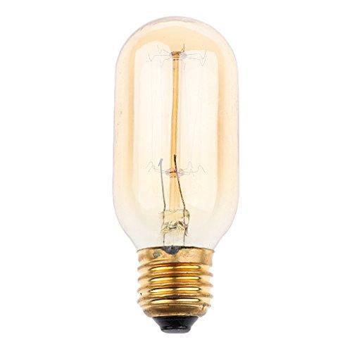 MagiDeal 40W E27 Filamento de Tungsteno Droplight Bombilla Lámpara de Luz AC 220-240V - E27 G80