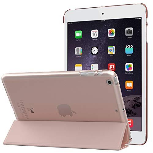 MoKo - Funda para iPad Mini 3/2 / 1 (función Atril, translúcida y esmerilada), Color Rosa Dorado