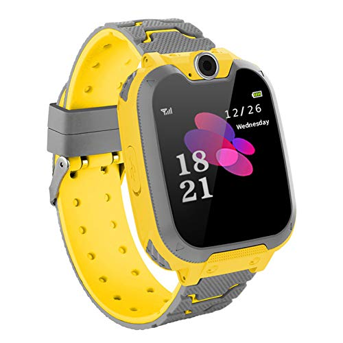 GULEHAY Waterproof Smart Watch Phone for Kids,1.54 inch Student Smart Watch Dial Phone Camera Voice Chat Built-in Game Best Gift for Children