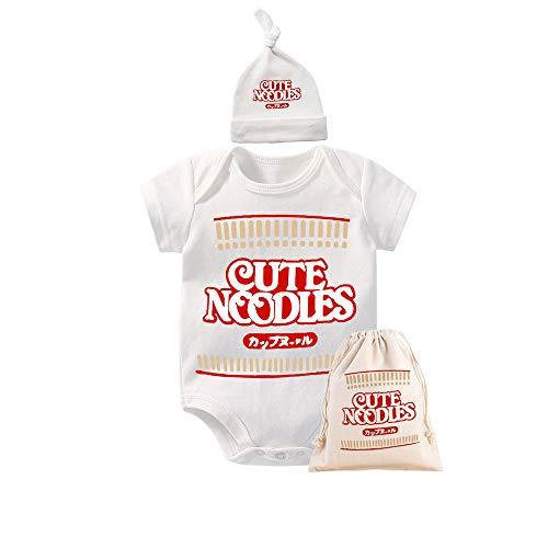 culbutomind - Body Divertido para bebé con diseño de Ramen Blanco Blanco 10-12 Meses