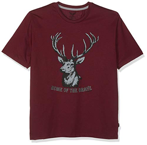 Trigema Herren 637253118 T-Shirt, Rot (Chianti-Melange 639), XXX-Large (Herstellergröße: XXXL)